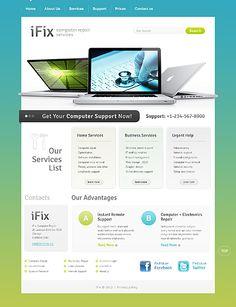Awesome Computer Repair Service Website Design. #computerrepair #webdesign