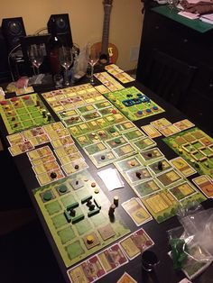 A game of Agricola in full swing