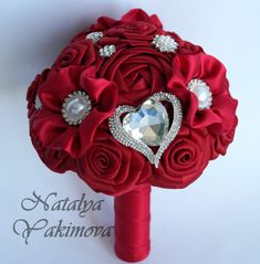 Bridesmaid's bouquet Wedding Toss bouquet red purple