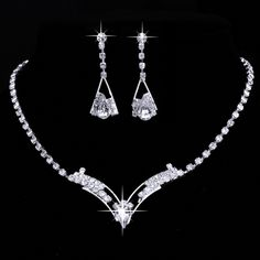 Cheap jewelry sets women, Buy Quality rhinestone jewelry set directly from China wedding jewelry sets Suppliers: Vintage jewelry rhodium plated Fashion full rhinestone jewelry sets stud earrings necklaces Crystal Wedding Jewelry Sets Women Silver Wedding Jewelry, Prom Jewelry, Jewelry Logo, Bridesmaid Jewelry Sets, Wedding Jewelry Sets, Rhinestone Jewelry, Charm Jewelry, Silver Ring, Silver Earrings