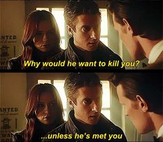"""[gif] """"Why would he want to kill you?... unless he's met you. Rory and Amy"""
