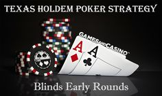 ♠️♥️Texas Holdem Poker Strategy♣️♦️ Blinds Early Rounds Tournament Strategy http://www.gamesandcasino.com/poker-strategy/blinds-early-rounds-tournament-strategy.htm #howtoplay #texasholdem #poker