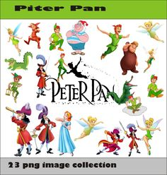Piter Pan Collection PNG Vector Instant Download Disney Clipart Digital Albums Magnet Collage Greeting Sticker Printable Party Items by SlavGraphics on Etsy