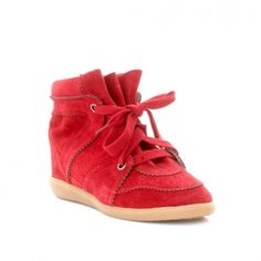 Isabel Marant Bobby Wedge Rouge Sneaker
