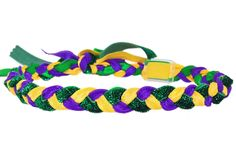 Reversible Mardi Gras Headband with or without glitter!