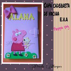 #capa #Cadernetadevacina #eva #Peppapig #foami #gomaeva #capinha #Cadernetavacinaçao