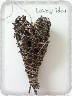 lovely idea!: Wood heart 1