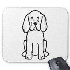 Clumber Spaniel Dog Cartoon Mousepad
