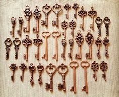 Keys to the Kingdom  Skeleton Keys  36 x Vintage by thejourneysend, $16.00