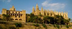 Palma de Mallorca Cathedral and Almudaina Palace, Majorca, Spain