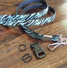 make dog collar our of lanyard keychain