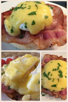 Benedict eggs for breakfast @ Heartmade Goodies   #eggs #bacon #hollandaisesauce #muffin