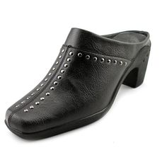 "Price : $33.99-----------  AEROSOLES WOMEN'S APPLE SAWCE MULE------ Color: Black Faux ----------- Synthetic----------- Synthetic sole----------- Heel Height: 2 1/2""----------- Origin: Imported----------- Fit: True to Size----------- Outsole: Synthetic----------- Upper: Faux Leather-----------"