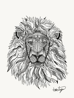 Tribal Lion on Behance