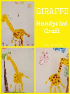 Giraffe Handcraft- Wild Animals Theme