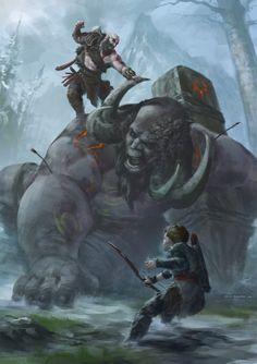 God of War, Fadly Romdhani Kratos God Of War, God Of War Series, Bracelet Viking, Vegvisir, Game Concept Art, Fan Art, Amazing Spiderman, Video Game Art, Cool Posters