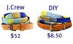 DIY thread wrapped belt