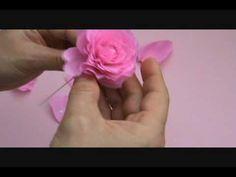 Crape Paper Rose                          http://clairespapercraft.blogspot.com  http://blog,naver.com/paper6262