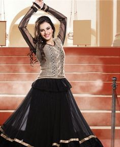 Buy Admirable Black Party Wear Salwar Kameez online at $89.38 [APRD3201]