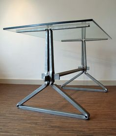 Our new showroom is now finished with this table taking centre stage, forged from single pieces of 40x30 and secured …