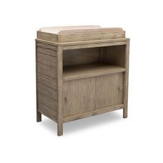 Relaxed and rustic, the Convertible Changing Table from Delta Children works for countryside nurseries and city spaces alike. No two pieces are alike, since each piece features a distressed finish thats hand applied and allows the natural grain texture of the wood to show through. A one-of-a-kind option for your nursery, this versatile changing table features a removable topper that sits above a large open cubby and slider doors that reveal even more storage. Once your baby has outgrown the…