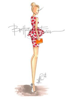 Brittany Fuson fashion illustration
