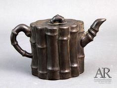 Chinese YiXing Teapot W/ Bamboo Shape W/ Mark -