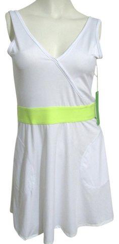 NWT White KYODAN Women Tennis Golf Fitness Sports Dress XS Sleeveless Pockets 2 #Kyodan #SkirtsSkortsDresses