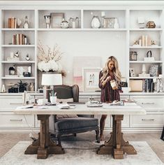 New Gallery — Alexa Jean Brown Cozy Home Office, Home Office Design, Home Office Decor, House Design, Home Decor, Office Ideas, Cool Office Space, Home Office Furniture, Office Interiors