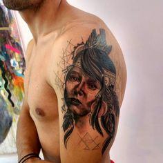 Tattoo india america plumas diseño