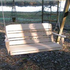 Starlyu0027s Deer River Porch Swing Cypress American Made