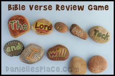 Rock Bible Verse Review Game from www.daniellesplace.com