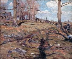 The Edge of the Maple Wood - A.Y. Jackson, 1910, Post-Impressionism.