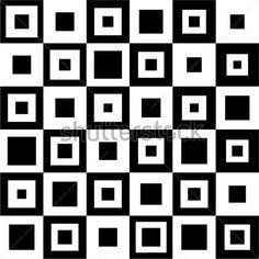 Kwadrat czarno-biały wzór.