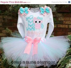 On Sale First Birthday Outfit Chevron Owl by BowsNBlingBoutique, $47.69