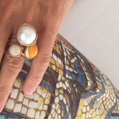 Our Lotus rings are handcrafted in 18K gold with a unique precious stone. The rings are designed to be stacked in a bouquet of your favourite combination of the colourful gemstones.  Explore more on link in bio.  #OLCLotus #OleLynggaardCopenhagen #OleLynggaard #CharlotteLynggaard @charlottelynggaard_dk