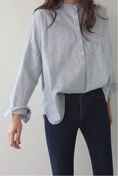 women's shirts casual look shirt jeanshose combine - Hemd Outfit Look Fashion, Fashion Clothes, Fashion Models, Fashion Outfits, Womens Fashion, Fashion Trends, Winter Fashion, Gq Fashion, Style Clothes