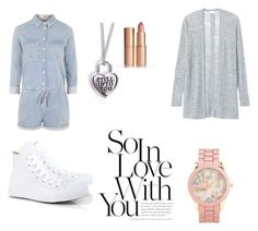 OOTD Casual by itsbrianasanders on Polyvore featuring polyvore, fashion, style, Rebecca Taylor, Topshop, Converse and Aéropostale