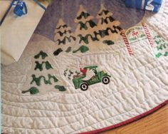 Tree Trimmings Christmas Tree Skirt - MM Embroidery Designs | OregonPatchWorks