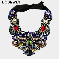 Charm Jewelry Multicolor Crystal Necklace Statement Chokers Bib Collar Big Necklaces For Women Evening Dress  Tag a friend who would love this!Visit us:  http://www.rumjewelry.com/product/fashion-charm-jewelry-multicolor-crystal-necklace-statement-chokers-bib-collar-big-necklaces-for-women-evening-dress-2016/ #shop #beauty #Woman's fashion #Products #homemade
