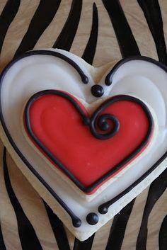 cute heart cookie.