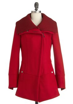 Diagonal Alley Coat in Red    $139.99