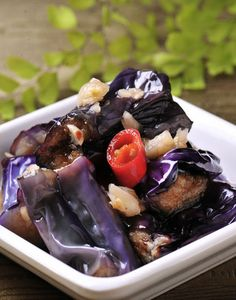 涼拌茄子  Eggplant  Photo By Vicki Li