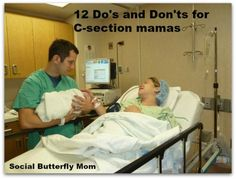 12 Do's and Don'ts for C-section mamas