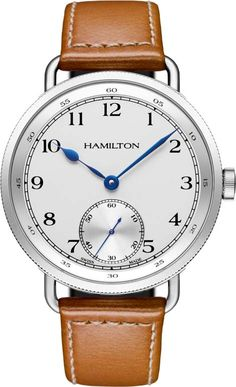 Hamilton Khaki Navy Pioneer Silver Dial Leather strap Mens Watch H78719553 BY Hamilton