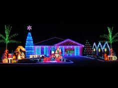 My home Christmas display, which consists over computer controlled christmas lights. Exterior Christmas Lights, Best Christmas Lights, Christmas Decorations For The Home, Christmas Yard, Christmas Music, Holiday Lights, Little Christmas, Xmas Decorations, Christmas Holidays