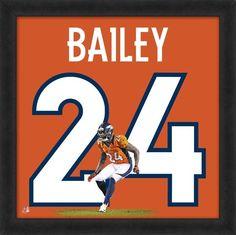 "Champ Bailey Denver Broncos Officially Licensed 20"" x 20"" Uniframe"