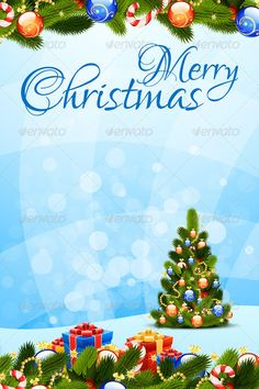 Merry Christmas Greeting Card — Vector EPS #decoration #mistletoe • Available here → https://graphicriver.net/item/merry-christmas-greeting-card/3256695?ref=pxcr