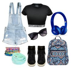 """""""School days #4"""" by gurveenpanesar ❤ liked on Polyvore featuring Vera Bradley, CO, H&M, Beats by Dr. Dre and Yves Saint Laurent"""