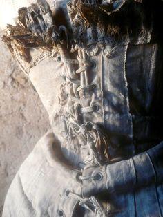 antique shabby corset